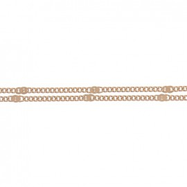 Mesh chain 1,5 mm - brown x 20cm