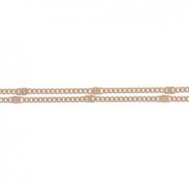Mesh chain 1,5 mm - brown x 20cm