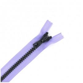 Fermeture Eclair® synthétique bicolore séparable - parme /gris -