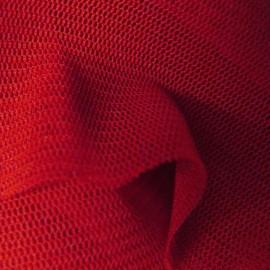 Tulle souple rouge au mètre