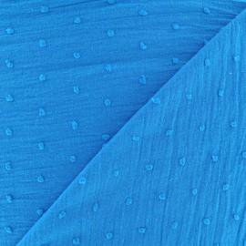 Tissu Plumetis coton - azur x 10cm
