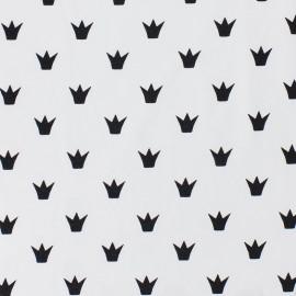 Tissu Jersey Couronne - blanc x 10 cm