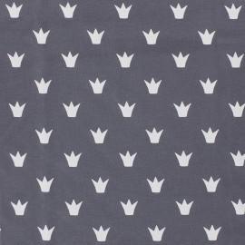 Tissu Jersey Couronne - gris x 10 cm