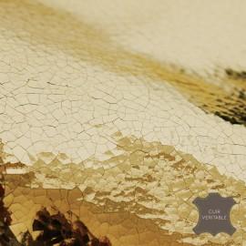 Peau vachette pleine fleur Glitter craquelé - or (72 cm x 121 cm)