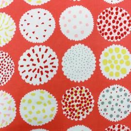 Tissu toile de coton Kokka Piirakka - corail x 20cm