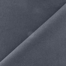 Maille tubulaire gris bleu
