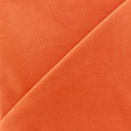 Tissu Velours éponge jersey - orange x 10cm