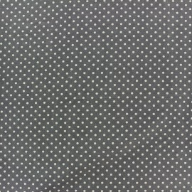 Tissu coton pois 2mm - brume/anthracite x 10cm