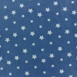 Tissu coton Stars bicolore - bleu ciel/bleu x 10cm