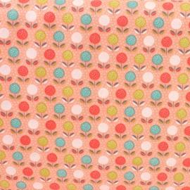Tissu coton Dashwood Fablewood Buds & bloom - corail x 10cm