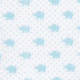 Double Gauze Fabric Little Prints Elephant - sky x 10 cm
