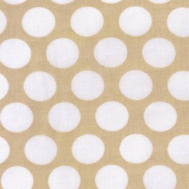 Double Gauze Fabric Little Prints Dots - natural x 10 cm