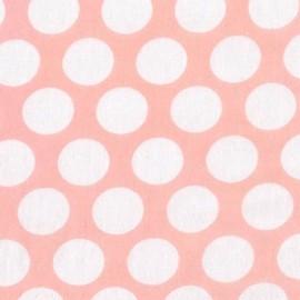 Double Gauze Fabric Little Prints Dots - pink x 10 cm