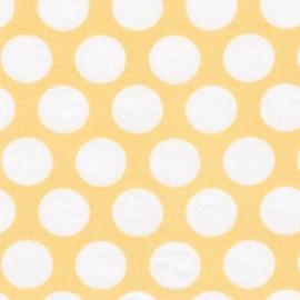 Double Gauze Fabric Little Prints Dots - yellow x 10 cm