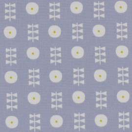 Dashwood cotton fabric Bloom Floral - blue x 10cm
