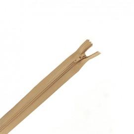 Fermeture à glissière non séparable fine nylon -  mastic