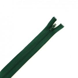 Fermeture à glissière non séparable fine nylon -  vert sapin