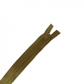 Fermeture à glissière non séparable fine nylon -  vert russe