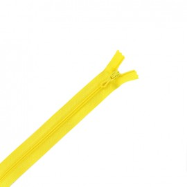Closed bottom zipper - canary yellow