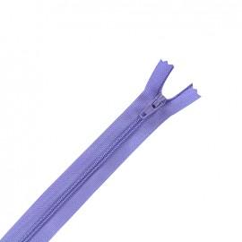 Fermeture à glissière non séparable fine nylon -  glycine