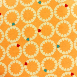 ♥ Only one piece 300 cm X 110 cm ♥ Makower UK cotton fabric Radiance heart circles - sunshine