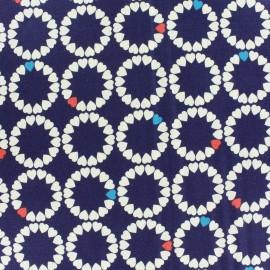 Tissu coton Makower UK Radiance heart deep - blue x 10 cm