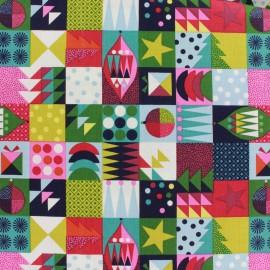 Tissu coton Makower UK Wrap it up abstract squares - multi x 10 cm