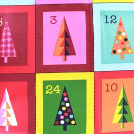 Tissu coton Makower UK Wrap it up advent  panel - multi x 60 cm