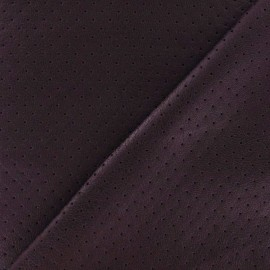♥ Coupon 50 cm X 150 cm ♥ Clara punched flexible imitation leather - garnet red