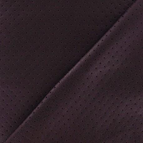 Clara punched flexible imitation leather - garnet red x 10cm