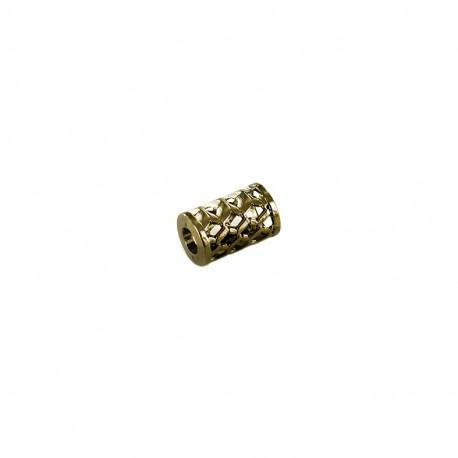 Arrêt de cordon métal Ajouré cylindre - vieil or