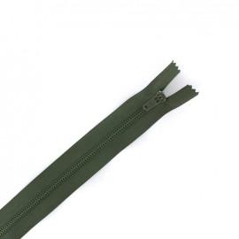 Nylon closed end zip - military green