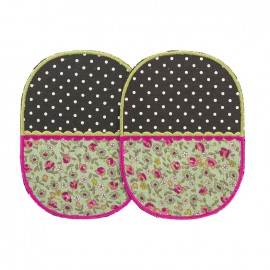Bi-material iron-on elbow patch - Blossom (x2)