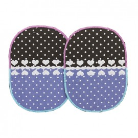 Bi-material iron-on elbow patch - Love (x2)