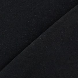Plain jersey fabric - black x 10cm