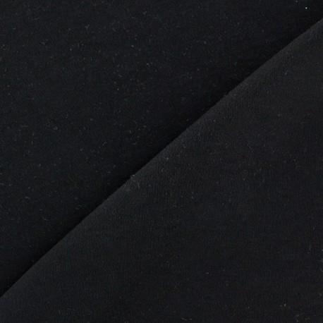 Plain jersey fabric - black x 10cm