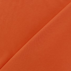 Plain jersey fabric - orange x 10cm
