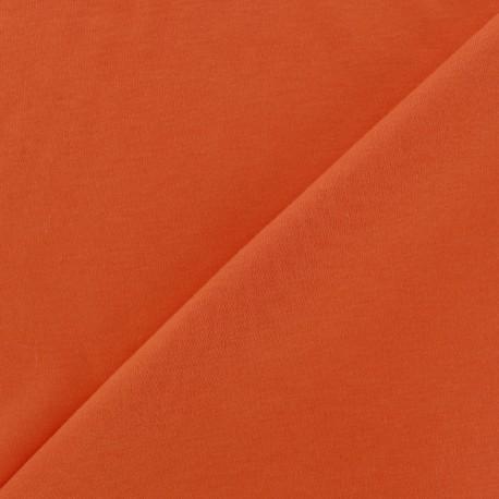 Tissu Jersey uni 100% coton - orange x 10cm