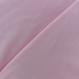 Tissu Jersey uni 100% coton - rose clair x 10cm