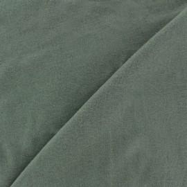Tissu Jersey uni 100% coton - vert kaki x 10cm