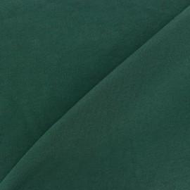 Tissu Jersey uni 100% coton - vert sapin x 10cm