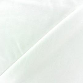 Tissu Jersey uni 100% coton - blanc x 10cm