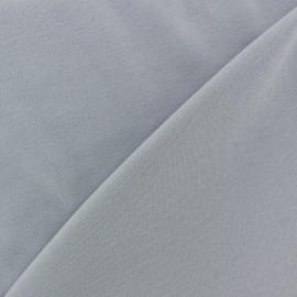 Tissu Jersey uni 100% coton - gris très clair x 10cm