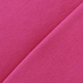 Tissu Jersey uni 100% coton - fuchsia x 10cm