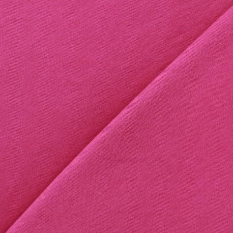 Tissu Jersey uni 100% coton - rose x 10cm