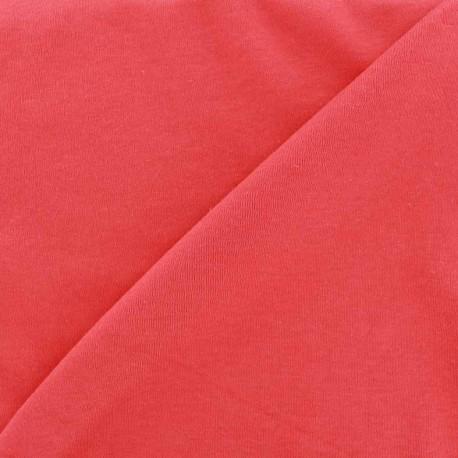 Plain jersey fabric - red x 10cm