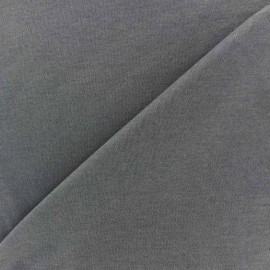 Tissu Jersey uni 100% coton - anthracite x 10cm