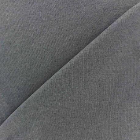Plain jersey fabric - anthracite x 10cm