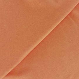 Tissu Jersey uni 100% coton - orange clair x 10cm