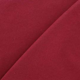 Plain jersey fabric - bordeaux x 10cm